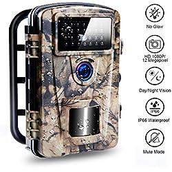 Camera de Chasse de Piste Avec Une Vitesse de Déclenchement de 0,2 Seconde, Une Caméra IP66 de Protection de La Faune Imperméable Améliorée, Une Caméra de Chasse à 940 nm à LED Intégrée|12MP|65ft