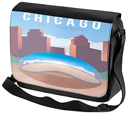 Umhänge Schulter Tasche Reisen Küche Chicago USA Bedruckt Chicago Küche