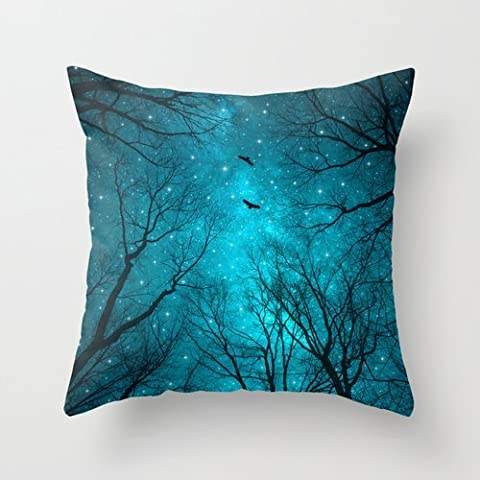 Mountians Forest Pillow Cases 18 X 18 Inches / 45 By 45 Cm Gift Or Decor For Son,chair,divan,relatives,gril Friend,outdoor - Twice