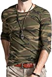 #3: LionRoar Men's Army Round Neck Full Sleeve Camouflage T Shirts for Men
