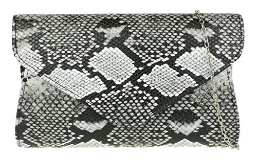 Girly HandBags piel serpiente embrague bolsa