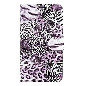 Wilder Tiger-Muster PU-Leder für Samsung Galaxy Note 4, Violett