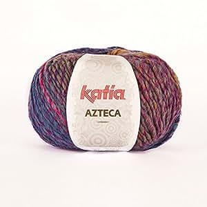 Katia Azteca 7826 Pelote de laine Fuchsia/bleu/vert/jaune/orange