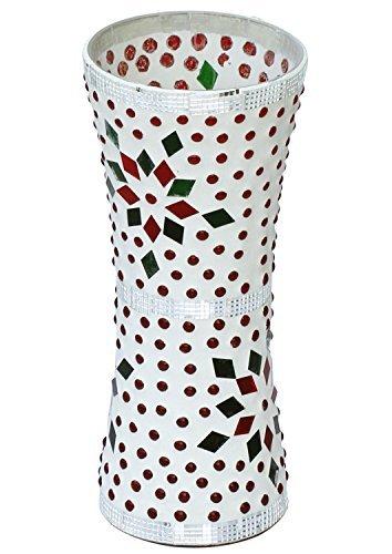 SouNear 19.5 cm Flower Vase - Multi-Colour Glass Mosaic Decorative Vase – Centerpiece for Table / Home / Office Décor – Decoration Items for Wedding / Parties / Birthday