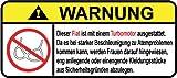Fiat Turbo Motor German Lustig Warnung Aufkleber Decal Sticker