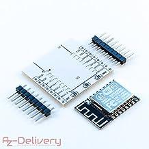 AZDelivery ESP8266 ESP-12F verbesserte Version zu ESP-12E, Wireless remote serielles WLAN WIFI Modul für Arduino, Raspberry Pi und Mikrocontroller mit gratis Adapter Board!