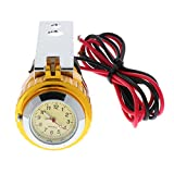 12v Wasserdicht Motorrad USB Handy Ladegerät Steckdose Adapter mit Uhr - Gold