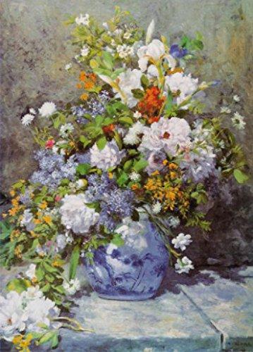Pierre-Auguste-Renoir-Big-Vase-With-Flowers-1866-2-Parts-Pster-Fotomural-250-x-180cm