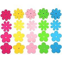 Willbond Flores de Fieltro de 2 Estilos para Manualidades y Artesanía, Colores Variados, 200 Piezas