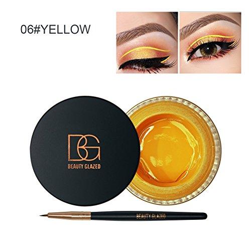 Angmile 2 en 1 gel Eyeliner Set Preuve de l'eau Smudge Preuve Last for All Day Long A06