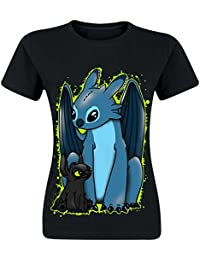 d5375d5298 Cupcake Cult Reverse T-Shirt Ladies Black Stitch Toothless Dragon Cosplay  Print