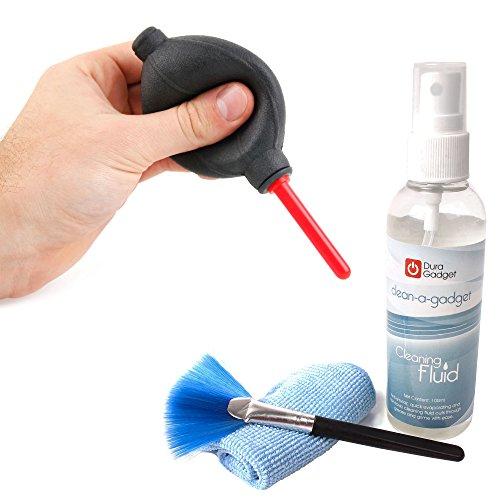 Camcorder Kit Bag (DURAGADGET Cleaning Kit+ Blasebalg für den Camcorder Sony FDR-X1000VR und FDR-X3000 | Besteker 312P)
