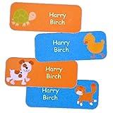 nom autocollants colorés pour les enfants/Personnalisés enfants étanches etiquettes/ (Animaux domestiques, 40)