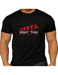 T-Shirt Muay Thai Evolution en coton noir T pour homme
