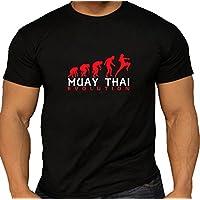 Muay Thai Evolution negro hombre de algodón T Shirt