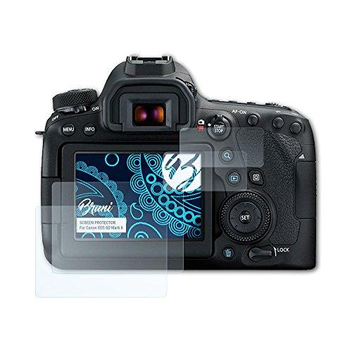 Bruni Schutzfolie kompatibel mit Canon EOS 6D Mark II Folie, glasklare Displayschutzfolie (2er Set) Canon Screen Protector