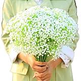 BlueXP 4 Stück Kunstblumen Gypsophila Unechte Blumen Seiden Braut Hochzeitsblumenstrauß