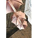 Chaînes de pluie - Chaîne de pluie à parapluies, plaquée cuivre