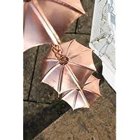 Cadenas de lluvia - Cadenas de lluvia con diseño de paraguas - Cobreado - 1,8 m de largo