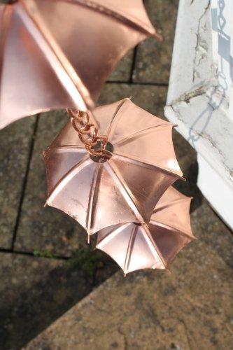 Regenketten – Regenkette Schirm – aus verkupfertem Metall