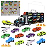 iBaseToy Toy Cars, Transport Car Carrier Truck Educational Vehicles Toy Car Set