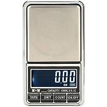 KKmoon Mini Báscula profesional digital electrónica de Joyería de la Escala Bolsillo Escala Balanza de precisión