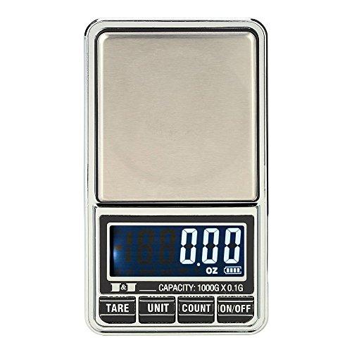 KKmoon Professional Mini Digital Scale Jewelry Electronic Pocket Scale Precision Balance 600g*0.01g / 1000g*0.1g