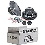 Ground Zero GZIC 16X - 16cm Lautsprecher System - Einbauset für Ford Fiesta MK7 Front Heck - JUST SOUND best choice for caraudio
