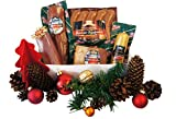 Wurstpaket Geschenk Weihnachten | Schinken | Winter-Salami | Lendchen | Preiselbeer-Leberwurst | Rauchwurst | Schlemmerkiste mit Weihnachtsgeschenk | 1550g