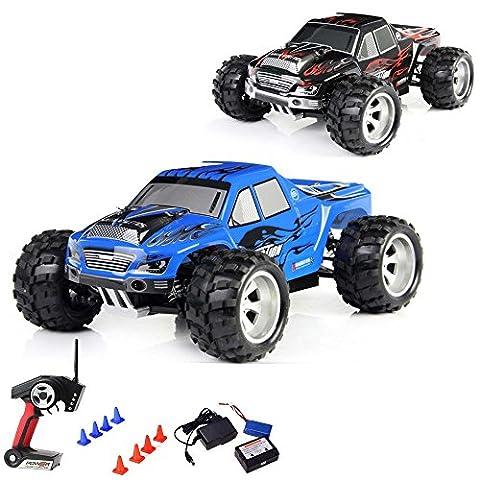 1:18 Elektro 2.4GHz Off-Road RC ferngesteuerter 4WD Truck-Modell, Wassergeschützt, LiPo-Power, Digital vollproportionale Steuerung Top-Speed von ca. 50 km/h, Komplett-Set (Super-racing Seat)