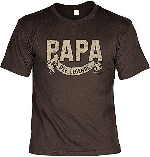 Sprüche T-Shirt Vater - cooles für Papa : Papa die Legende -- Geschenk T-Shirt Vatertag Geburtstag Farbe: braun Braun
