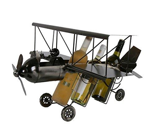 Flugzeug XXL Flaschenhalter Metall Weinflaschenhalter Sekthalter Deko Flieger
