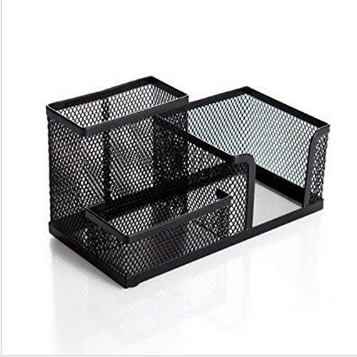 ULTNICE Schreibtischköcher Metall Stifteköcher Tisch-Organizer (Schwarz)