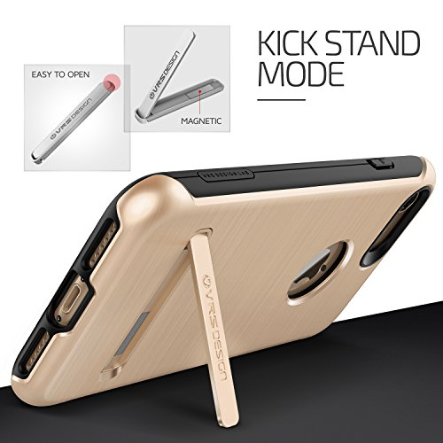 VRS Design Duo Guard Edition Handy-Hülle   Apple iPhone 7 Plus   Polycarbonat in Rose Gold   Schutz-Cover Smartphone-Case Shine Gold