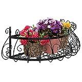 Schwarz Metall Rankenwerk-Design, Wand montiert Flower Plant Display/Deko Fenster Boxen Pflanzgefäßen