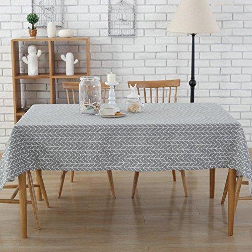 starnearby Pfeil Print Leinen Baumwolle Tischdecke Staub Proof Nachttisch Cover Home Decor, 55 x 55 inch