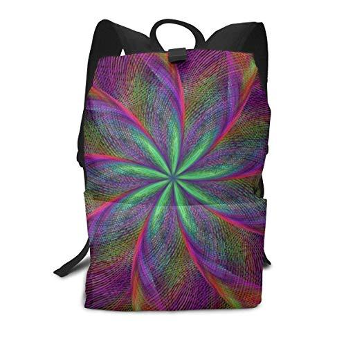 Psychedelic-Back Rucksack Middle für Kinder Jugendliche Schulreisetasche -
