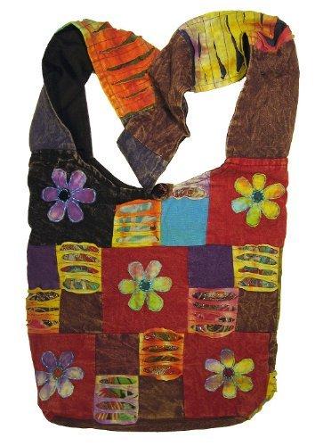Original Collections Happy Flowers Handtasche/Geldbörse mit Patchwork-Motiv -
