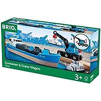 Brio - Barco portacontenedores y camión grúa (33534)