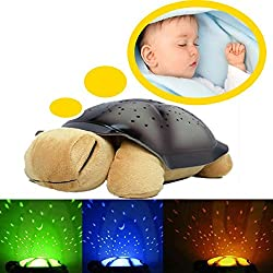 Shopo's Led Turtle Night Sky Constellations Star Projector Music Baby Sleep Light Led Lamp.