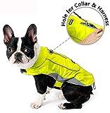 Morezi Premium Outdoor Sport Waterproof Dog Jacket Winter Warm Large Dog Coat with Harness Hole Yellow - Small
