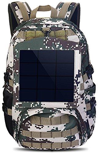 Tarnung Rucksack Solar Powered Tasche 6.5W Solar-Panel (Rechteck)