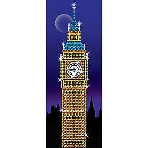Art Sequin - KAD1406 - Peinture Au Numéro - Motif Big Ben - 19 x 50 Cm - Strictly Art Sequin Vertical - Coloris Aléatoire