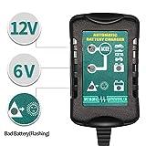1.5A 6V 12V Trickle Chargeur de Batterie Entretien automatique pour Auto Voiture Moto...