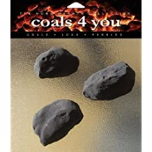 20 Gas Fire Ceramic Large Cast Coals Replacement Replacements/Bio Fuels/Ceramic/Boxed in Coals 4 You packaging