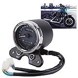 #4: Fansport Motorcycle Speedometer Retro LED Motorcycle Tachometer Motorcycle Odometer