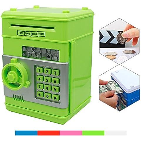 Huchas, Netspower Hucha Dinero Bancos, Electrónica Digital Mini ATM Ahorro de Bancos, Cajas de Ahorro de la Moneda, Juguetes de los Regalos para Niños con Sonido -