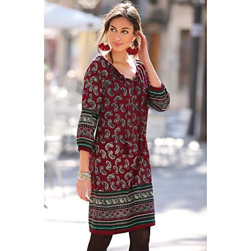 Vestido Tipo túnica Mujer by Vencastyle - 019199,Estampado Rojo Granate,M