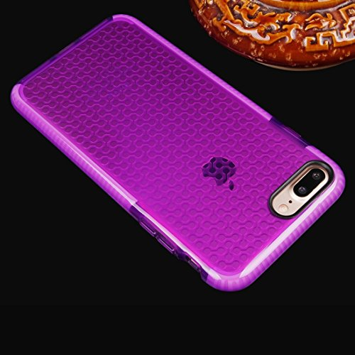 Für iPhone 7 Plus Dumbbell Texture Transparente TPU Schutzhülle DEXING ( Color : Black ) Purple