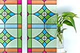 CottonColors película Adhesiva Decorativa de Ventana 3D Estático autoadhesivo de ventana Película para Acristalamiento, Película Que Oculta para Acogida oficina, Cuarto de...